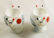 Villeroy & Boch ANIMAL PARK 2 x boxed Catsy Cat egg cups NEW UNUSED