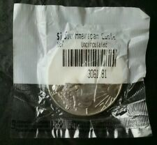 1987 $1 American Silver Eagle Dollar in a Littleton Packet