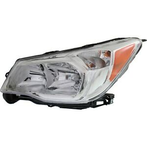 Headlight For 2014 2015 2016 Subaru Forester 2.5L Engine Left With Chrome Bezel
