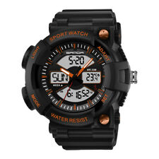 SANDA Men's Waterproof Sport Digital LED Alarm Date Thermometer Wrist Stopwatch