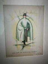 DELIGHTFUL BON TON RARE THAYAHT  Madeleine Vionnet. - Fashion Pochoir 1922