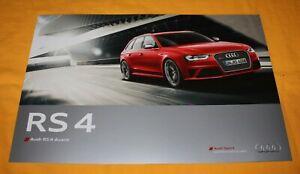 Audi RS4 Avant 2012  B8 (F) Prospekt Brochure Depliant Catalog Folder Prospetto