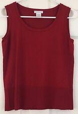 Worthington Sleeveless Sweater Knit Top Tank Shell Burgundy Rayon Red Size M