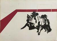 DINO BOSCHI litografia fuga prospettica 1966 65x46 firmata numerata pubblicata