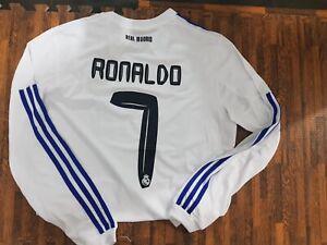 Cristiano Ronaldo 2010/2011 Real Madrid CR7 Soccer Football Long Sleeve Jersey L