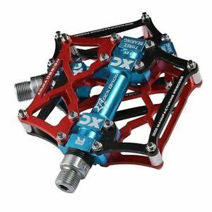 ROCKBROS BMX MTB Road Bike Pedals Platform Aluminum Alloy Sealed Bearing 9/16''