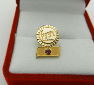 Stater Bros. Markets Pin 10k Yellow Gold  with Ruby