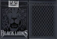 Black Lions Playing Cards Poker Size Deck USPCC David Blaine Custom Limited New