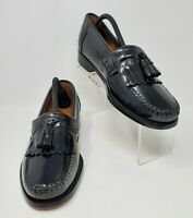 G H Bass Co JEREMY 1820 Mens 10D Black Leather Kiltie Tassels Moc Toe Loafers