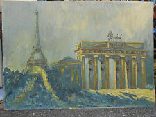BERLIN PARIS Brandenburger Tor Eiffelturm Tour Eiffel Wensel Kiel 1961 Quadriga