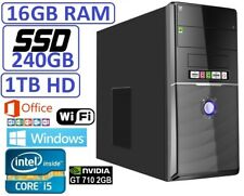Ordenador Sobremesa i5 16GB RAM 240SSD+1TB GT710 WINDOWS + OFFICE + ANTIVIRUS