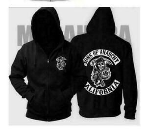 Unisex Printed Zipped Fashion Hoodie Coat S-XXL Sizes Sons Of Anarchy UK