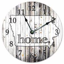 IOWA RUSTIC HOME STATE CLOCK Huge 15.5 inch Clock_2224-16