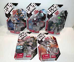 Star Wars lot 5 Clone trooper figures 30th Anniversary Collection Hasbro NEW