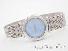 SKAGEN STEEL 107SSS1D Crystal Blue  Dial Stainless Steel Mesh Band Ladies Watch