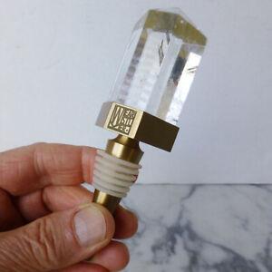 Rare KELLY WEARSTLER Crystallized WINE STOPPER bronze w/ QUARTZ CRYSTAL xlnt NR!