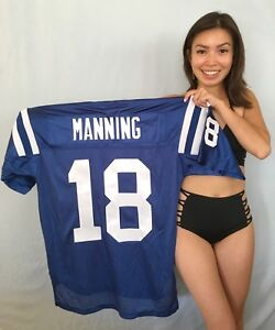 Peyton Manning Indianapolis Colts authentic Reebok stitched blue #18 jersey NEW