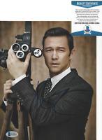 JOSEPH GORDON-LEVITT SIGNED INCEPTION 8X10 PHOTO ACTOR PROOF BECKETT COA BAS