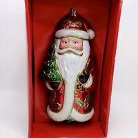 "9"" Giant Vintage Holiday Santa Christmas Tree Ornament"