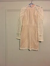 Women's White Lace Dress Missguided Small