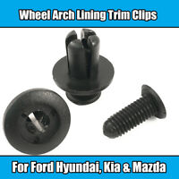 10x Clips For Ford Kia 8mm Wheel Arch Lining Trim Screw Rivet Black Plastic