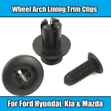 10x Clips For Ford Kia 8mm Wheel Arch Lining Trim Screw Rivet Black Plastic