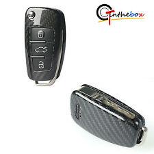 Real Carbon Fiber Smart Key Fob Case Cover Shell For Audi A4 A3 A6 Q3 Q5 TT, etc