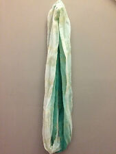 Collection Eighteen teal white shimmery woman's ladies winter fashion scarf GUC