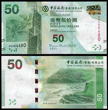 HONG KONG 50 DOLLARS (P342d) BANK OF CHINA 2014 UNC