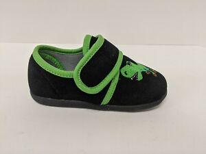 Foamtreads Kids T-Rex Shoe, Black/Green, Toddler 10