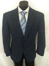 Harris Tweed Men's Wool Blazer Sport Coat Blue Windowpane Mass 40S 40 S