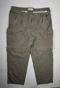 Columbia Convertible Cargo Pants Sz 36×28.5 Adjustable Leg Green Mens