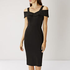 Coast Tazmin Shift Dress Size UK 16 Black LF075 BB 10