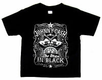 JOHNNY CASH Baby Infant T-shirt Man In Black Country Rock Tee 6M,12M,18M,24M New