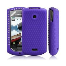 Silicone pour samsung S5620 Player Star 2 diamant couleur violet + film protecti