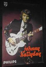 JOHNNY HALLYDAY FIN 70s  RARE AFFICHE ORIGINALE FRENCH POSTER