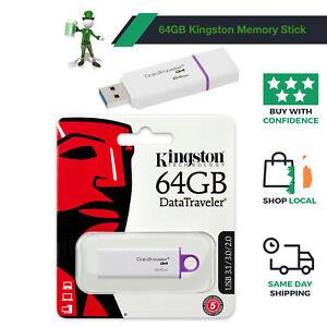 64GB Kingston DataTraveler USB 3.1 Flash Pen Drive Keyring Memory Stick New