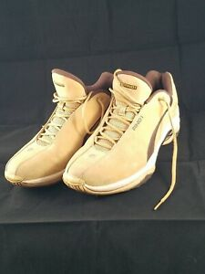 AND1 Rocket Men's Mid Rise Basketball Shoes ~ Mens Size 13 Tan/White & Brown