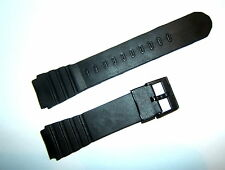 BLACK PLASTIC BUCKLE RESIN PVC 20mm REPLACEMENT WATCH STRAP UNISEX SUIT CASIO BN
