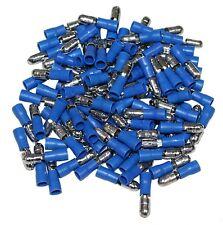 LOT DE 100 COSSES ELECTRIQUES ISOLEES A SERTIR 5MM RONDES MALES BLEUES  -  C1305