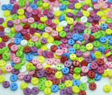 600Pcs Random Mixed 2 Holes Resin Sewing Buttons Scrapbooking 6mm Knopf Bouton