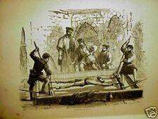 1874 RARE DEVIL Antique FOOT PRINTS SATAN Book VINTAGE