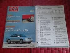 AUTO VOLT AUDI A4 1.6 et 1.8 TURBO et QUATTRO (FICHES ET SCHEMAS PLASTIFIES)