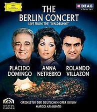 THE BERLIN CONCERT LIVE FROM WALDBUHNE: DOMINGO/NETREBKO/VILLAZON -BLU-RAY -NEW