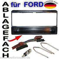 Einbaurahmen Inkl. Adapter für FORD Escort Fiesta Cougar Focus Radioblende 1DIN