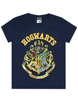 Harry Potter Hogwarts Crest Boy's Short Sleeve T-Shirt in Navy