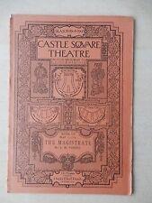 March 6th, 1905 - Castle Square Theatre Playbill - The Magistrate - Ben A. Field