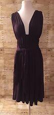 Mason plum Sleeveless V Neck Knee Length Luxurious formal party dress SZ/Small