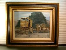 Oil Painting Horse Drawn Wagon Dairy Delivery Signed A. Bianchini
