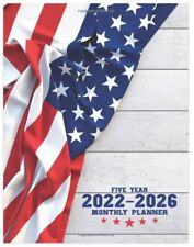 2022 2026 Monthly Planner 5 Year Calendar Organizer Journal Usa American Flag